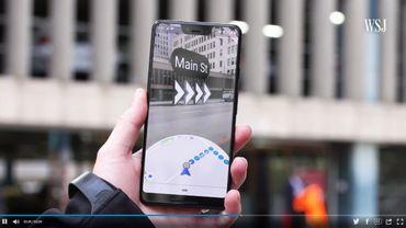 L Wall Street Journal a  pu tester en exclusivité la nouvelle mise à jour de Google Maps en réalité augmentée.