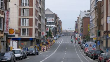Chaussée de Louvain vue depuis la place Meiser