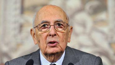 Poussé par les partis italiens, le président Giorgio Napolitano, 87 ans, a été réélu en février pour un second mandat.