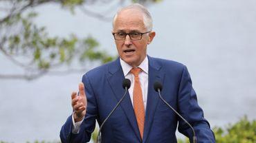 Le Premier ministre australien Malcolm Turnbull à Sydney le 2 mai 2018