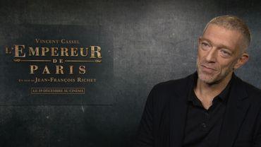 """Vincent Cassel sera mercredi à l'affiche de """"L'Empereur de Paris"""""""