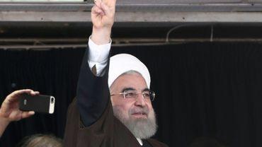 Le président iranien Hassan Rohani, le 16 mai 2017 à Ahvaz en Iran