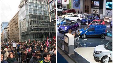 Marche pour le climat vs Salon de l'auto: inconciliable?