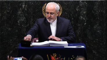 Le ministre iranien des Affaires étrangères, Mohammad Javad Zarif, à New York le 22 avril 2016.