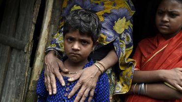 Des réfugiés Rohingyas installés dans un camp au Bangladesh, le 25 septembre 2017 après avoir fui la Birmanie