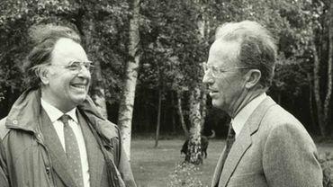 Fernand Colleye en compagnie du roi Baudouin.