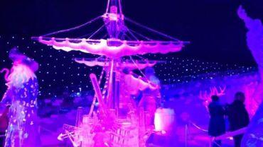 Gros succès pour le premier festival de sculptures sur glace à Liège