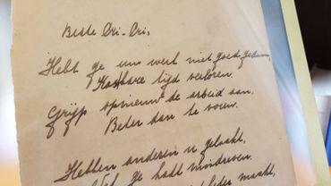 Un rare poème d'Anne Frank proposé aux enchères