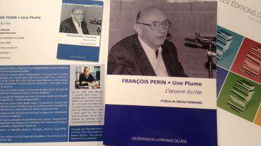 """""""François Perin, Une plume"""", l'ouvrage de Jules Gheude"""