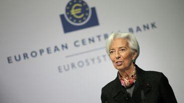 La présidente de la BCE CHristine Largade à Francfort, le 30 avril 2020
