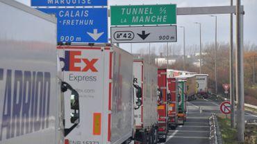 """Brexit: grève du zèle """"illimitée"""" des douaniers à Calais et Dunkerque"""