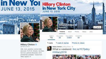 Hillary Clinton, Facebook & Twitter