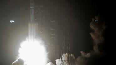 """Tianzhou-1 (""""Bateau céleste"""") a été propulsé par une fusée Longue Marche 7, qui a décollé du Centre de lancement de Hainan (sud) le 20 avril 2017"""