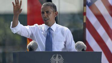 Barack Obama lors de son discours ce mercredi à Berlin