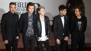 Les One direction, ici aux Brit Awards