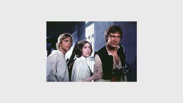 """Han Solo (à droite) libère la princesse Leïa avec l'aide de Luke Skywalker dans """"Star Wars, épisode IV : Un nouvel espoir"""""""