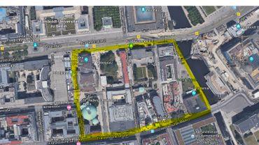 Le quadrilatère où est projeté ce musée du stalinisme en plein centre de Berlin
