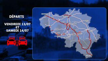 Départs en vacances: weekend rouge en perspective sur les routes belges