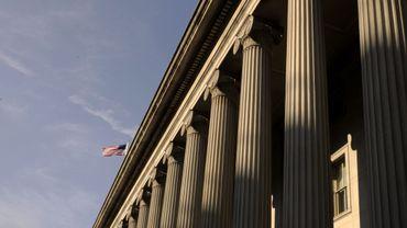Vue du bâtiment du Trésor américain en août 2011 à Washington D.C.