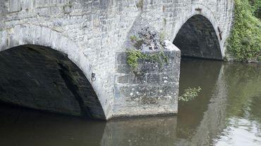 Lesse Bridge (Pont de Lesse) in Dinant, Belgium