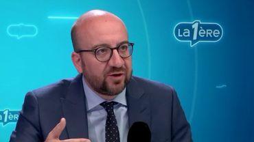"""Charles Michel: """"Notre génération est confrontée au désamour pour la manière classique de faire de la politique""""."""