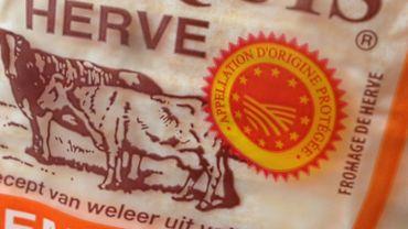 Le fromage de Herve, AOP