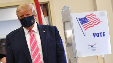 Présidentielle américaine : Donald Trump vote par anticipation