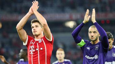 Leander Dendoncker et Sofiane Hanni après Bayern-Anderlecht