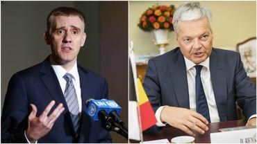 Didier Reynders (à droite) a rencontré son homologue monténégrin, Igor Luksic, ce mercredi à Bruxelles.