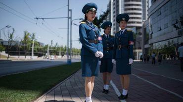 """Des """"Demoiselles"""" pour régler la circulation de Pyongyang"""