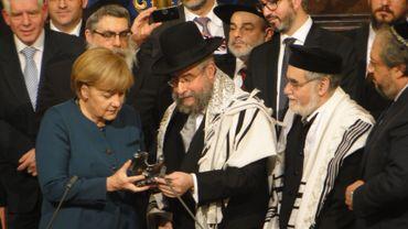 Angela Merkel récompensée du Prix du judaïsme européen à Bruxelles
