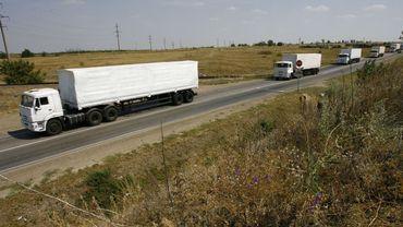 Cinq camions du convoi russe rebroussent chemin et quittent l'Ukraine