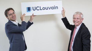 Vincent Blondel, recteur de l'UCL (à gauche), et Pierre Jadoul, son homologue de l'Université Saint-Louis