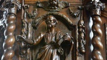 Ce saint Luc sculpté, volé dans l'église Saint-Amand, à Sirault, fait partie des objets retrouvés