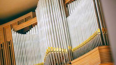 L'orgue restauré du Palais des Beaux-Arts.