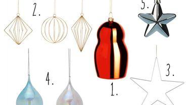 Noël : Cinq boules au look épuré