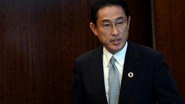 Le ministre japonais des Affaires étrangères Fumio Kishida au siège des Nations Unies à New York le 17 juillet 2017