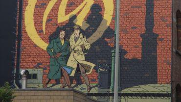 Une facade murale à Bruxelles