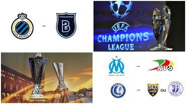 Bruges face à Basaksehir en Ligue des Champions, Ostende opposé à Marseille en Europa League