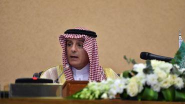 Photo prise le 9 décembre 2018 à Ryad montrant le ministre saoudien des Affaires étrangères Adel al-Jubeir lors d'une conférence de presse