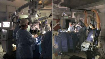 Santé : immersion dans une salle d'opération pour une intervention 2.0 à la base du cerveau
