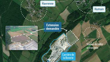 Lhoist demande la révision du plan de secteur pour une extension de sa carrière de Rochefort