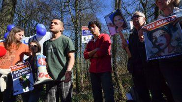 Manifestation à Bruxelles pour la libération d'Amaya Coppens