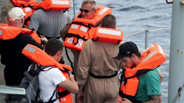 Méditerranée: le Godetia embarque 224 migrants sauvés par un navire civil