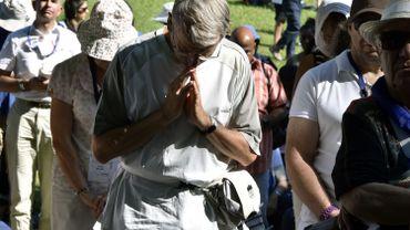 Des pélerins à Lourdes