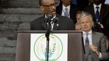 Paul Kagame et Didier Reynders à Kigali le 7 mars 2014