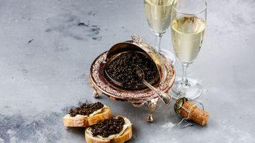 Champagne et caviar belge pour Noël