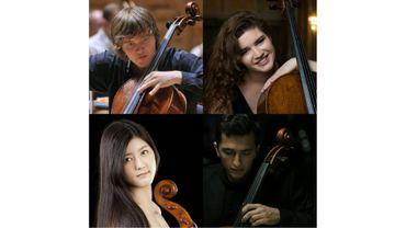 Ivan Karizna, Julia Hagen, Ayano Kamimura et Aurélien Pascal