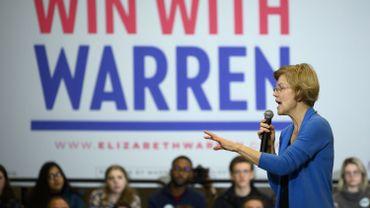 La candidate à la Maison Blanche Elizabeth Warren en meeting de campagne pour la primaire démocrate.