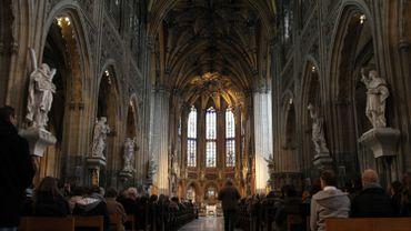 Vue intérieure de l'église Saint-Jacques, à Liège